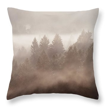 The Blow Of The Forest Throw Pillow
