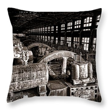 The Blower House At Bethlehem Steel  Throw Pillow