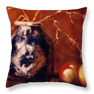 The Blue And White Vase Throw Pillow