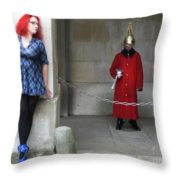 The Blue Ballet Shoes Hide From The Queen's Guard Throw Pillow