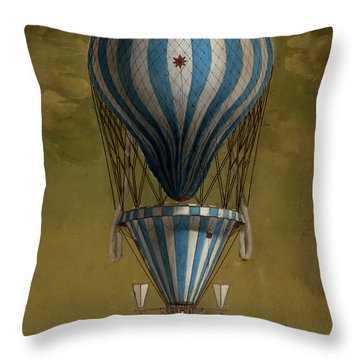 The Blue Balloon Throw Pillow