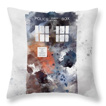 The Blue Box Throw Pillow