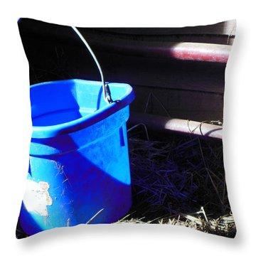 The Blue Bucket Throw Pillow