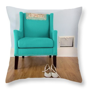 The Blue Chair Throw Pillow