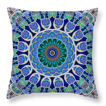 Throw Pillow featuring the digital art The Blue Collective 02a by Wendy J St Christopher