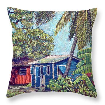 The Blue Cottage Throw Pillow