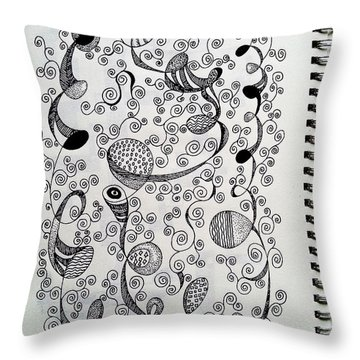Chopin Nocturne No. 1 In B Flat Minor - Larghetto Throw Pillow