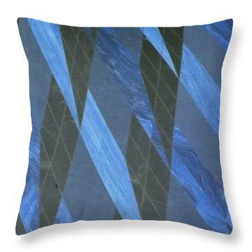 The Blue Dimension Throw Pillow