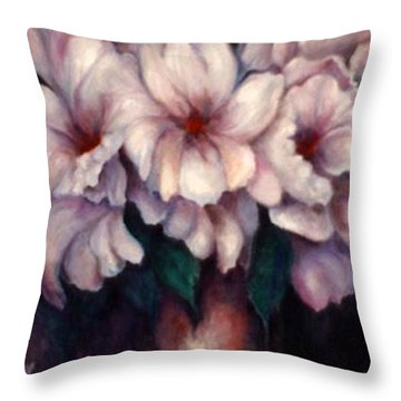 The Blue Flowers Throw Pillow