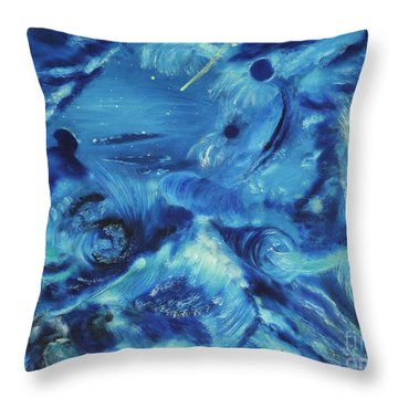 The Blue Hole Throw Pillow by Regina Wirsich Roberts