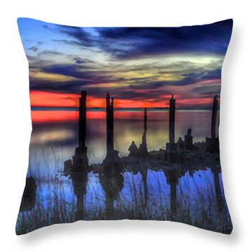 The Blue Hour Comes To St. Marks #2 Throw Pillow