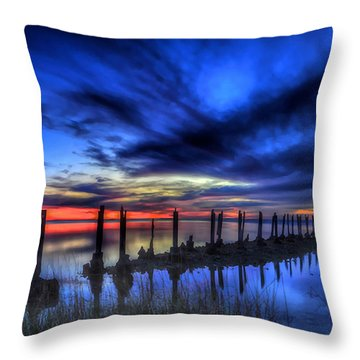 The Blue Hour Comes To St. Marks #1 Throw Pillow