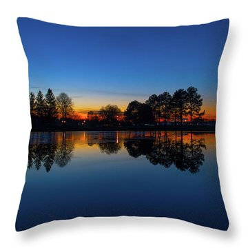 Throw Pillow featuring the photograph The Blue Hour.. by Nina Stavlund