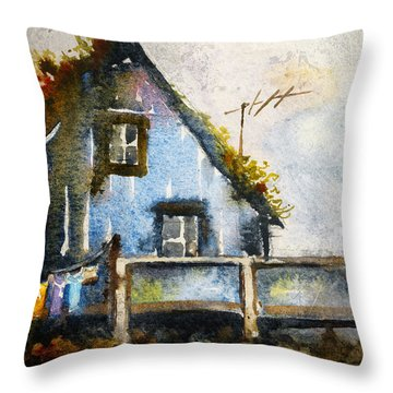 Thatched Roof Throw Pillows