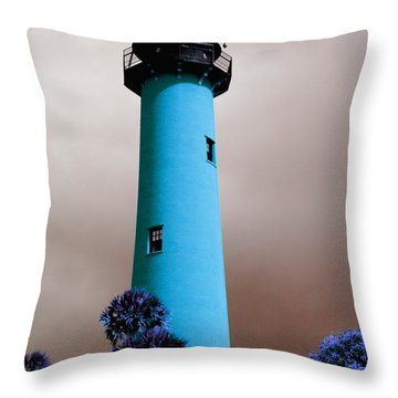 The Blue Lighthouse Throw Pillow