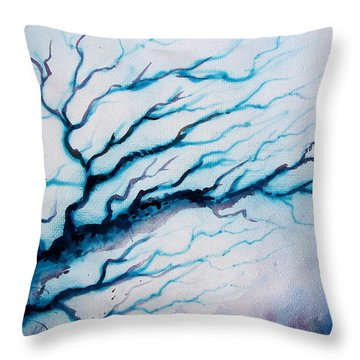 The Blue Magic Throw Pillow