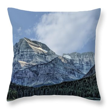 The Blue Mountains Of Glacier National Park Throw Pillow