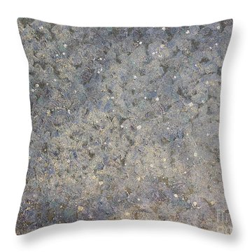 The Blue Throw Pillow by Rachel Hannah