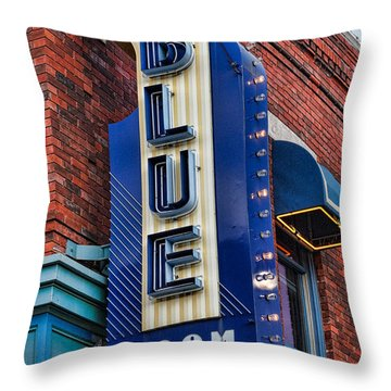 The Blue Room Sign Throw Pillow