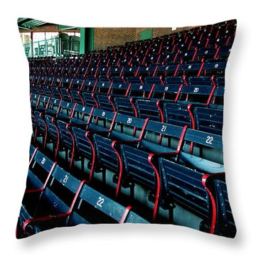 The Blue Seats Throw Pillow