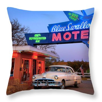 The Blue Swallow Throw Pillow