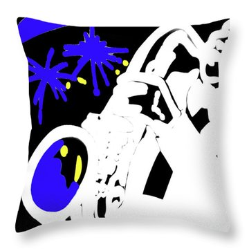 The Blues Throw Pillow by Al Bourassa