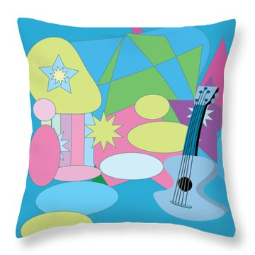 Throw Pillow featuring the digital art The Blues by Eleni Mac Synodinos
