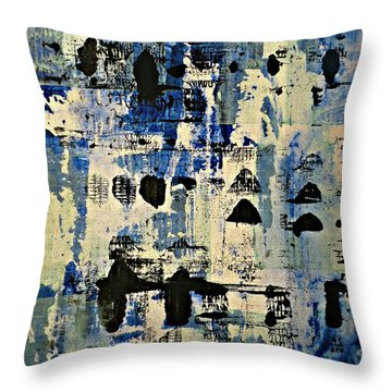 The Blues Abstract Throw Pillow