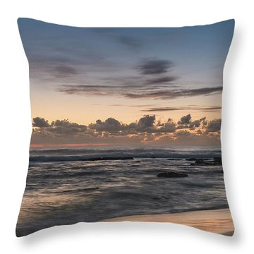 The Blues - Sunrise Seascape  Throw Pillow