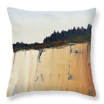 The Bluff Throw Pillow by Carolyn Doe