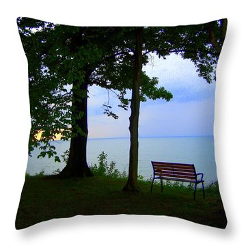 The Bluffs Bench Throw Pillow