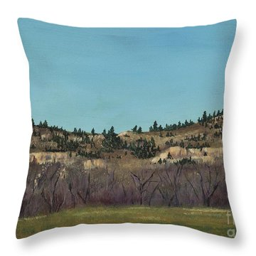 The Bluffs Throw Pillow