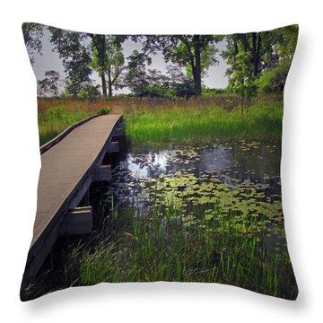 The Boardwalk Throw Pillow by Cedric Hampton