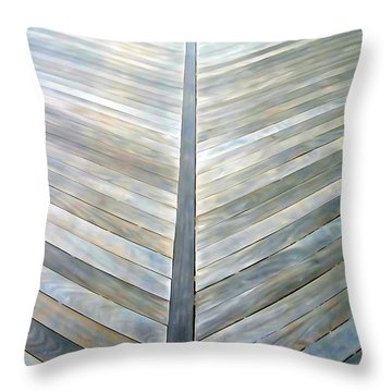 The Boardwalk Throw Pillow by Ed Weidman