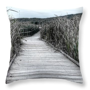 Throw Pillow featuring the photograph The Boardwalk by Michaela Preston