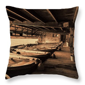Throw Pillow featuring the photograph The Boat House  by Scott Carruthers