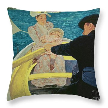 The Boating Party Throw Pillow by Mary Stevenson Cassatt