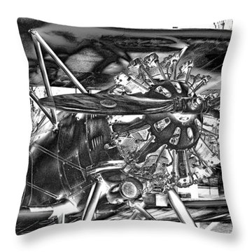 The Boeing 100p Fighter Throw Pillow