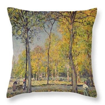 The Bois De Boulogne Throw Pillow by Alfred Sisley