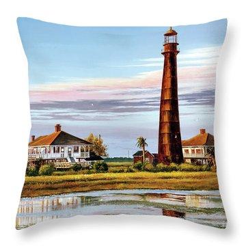The Bolivar Lighthouse Throw Pillow