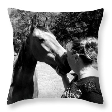 The Bond B And W Throw Pillow