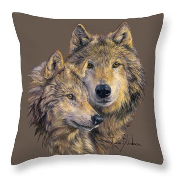 The Bond Throw Pillow by Lucie Bilodeau