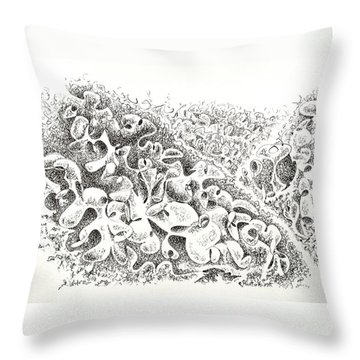 The Boneyard Of Unused Shapes Throw Pillow
