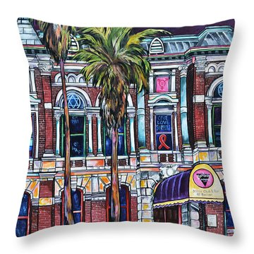 Throw Pillow featuring the painting The Bonham Exchange by Patti Schermerhorn