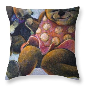 The Boogie Woogy Bears Throw Pillow