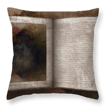The Book Of Life Throw Pillow by Ron Jones