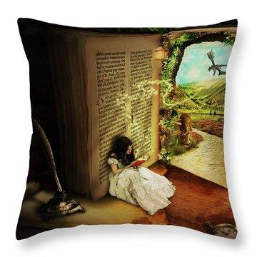 The Book Of Secrets Throw Pillow