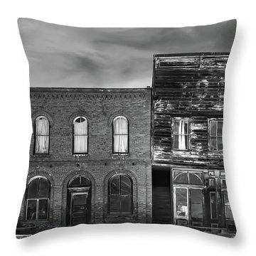 The Boot Building Throw Pillow