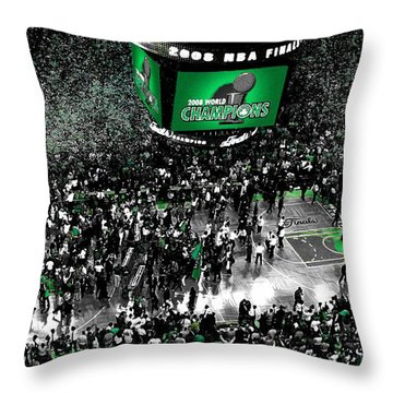 The Boston Celtics 2008 Nba Finals Throw Pillow by Brian Reaves