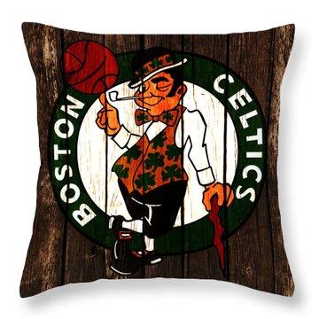 The Boston Celtics 2d Throw Pillow